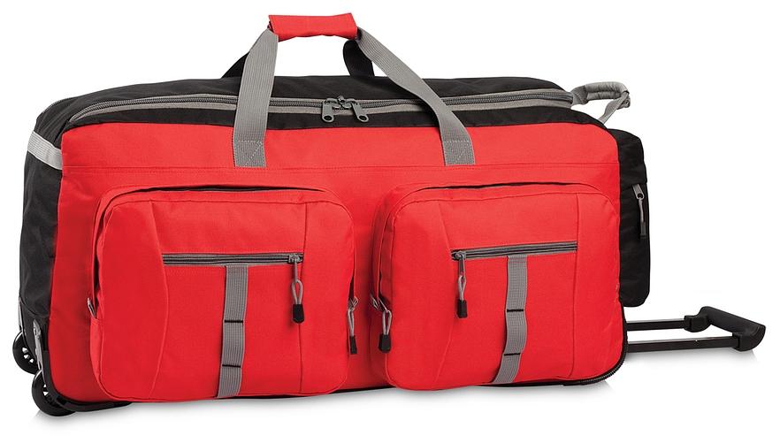 Southwest XXL cestovní taška na kolečkách 30184-0102 černo-červená