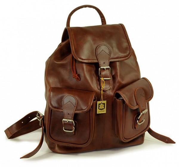 Hamosons Kožený batoh z hovězí kůže 559 hnědý - UNIVARO 1ad6c5e899