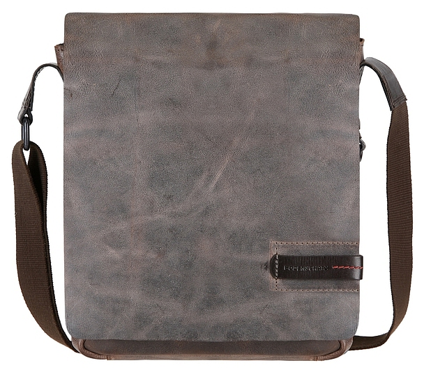 BODENSCHATZ Kožená taška přes rameno 8-240 PN šedo-hnědá