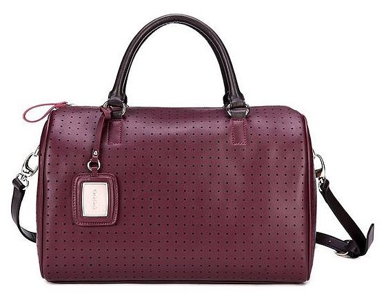 DuDu Italská kožená kabelka Madonna M1310000602 bordeaux