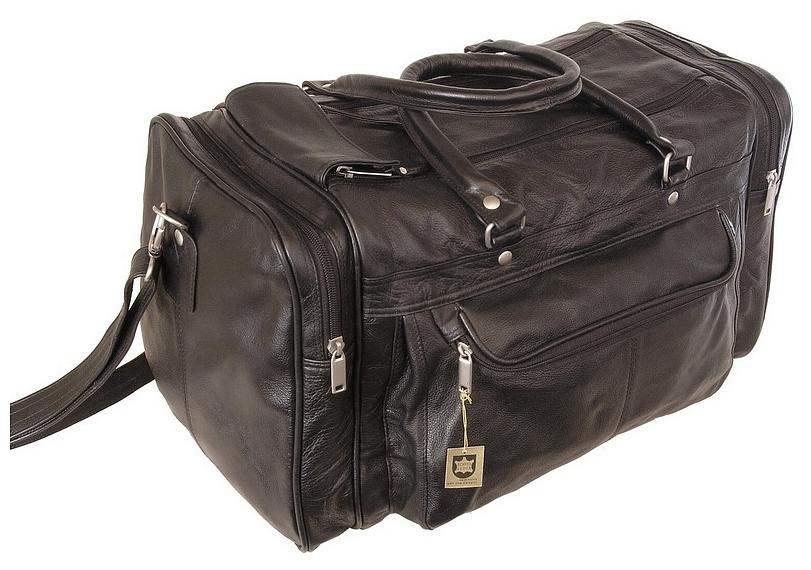 Hamosons Kožená cestovní taška 696 černá