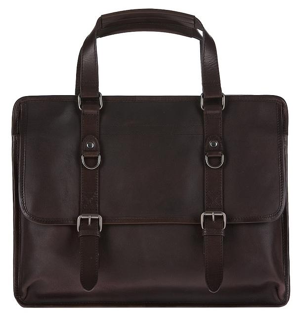JOST Kožená business taška na notebook TACOMA 2983-003 hnědá
