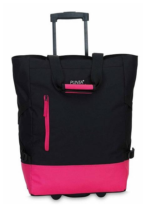 PUNTA wheel Nákupní taška na kolečkách 10183-0122 černá / pink