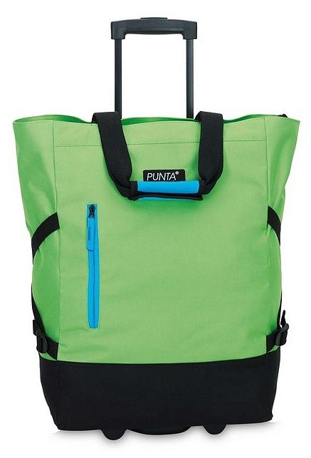 PUNTA wheel Nákupní taška na kolečkách 10183-3301 černá / limetková