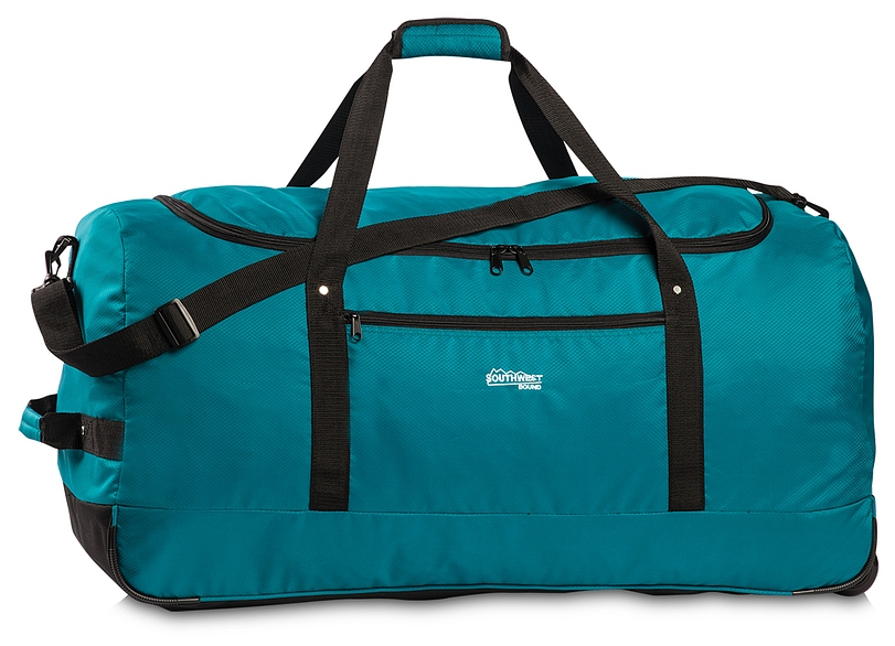 Southwest Skládací XXL cestovní taška na kolečkách 30232-2400 petrol