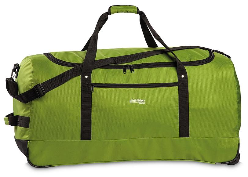 Southwest Skládací XXL cestovní taška na kolečkách 30232-1300 zelená