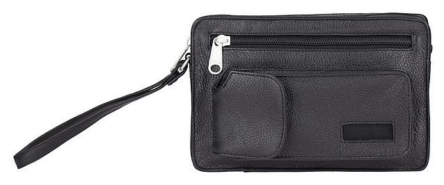 ESTELLE Kožená taška na doklady 8013 černá