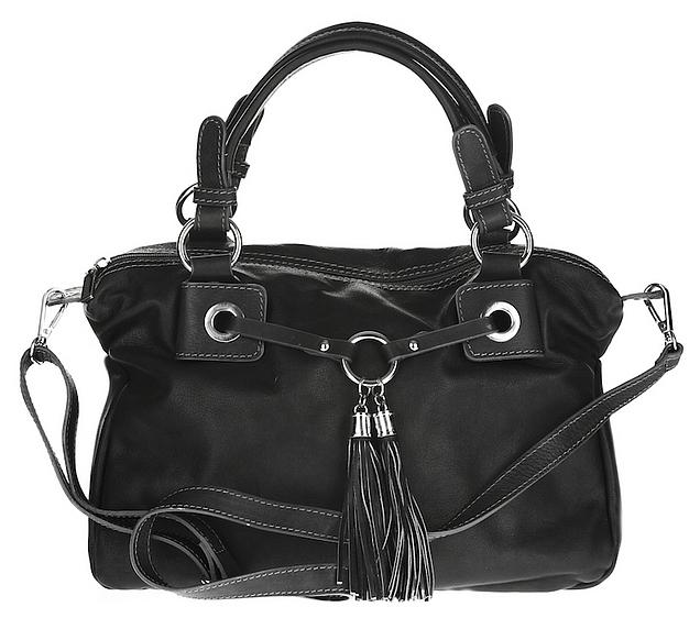 ESTELLE Kožená kabelka 0778-06 černá