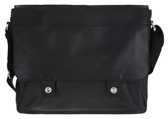 JOST Kožená taška přes rameno HUNTER 2572-001 černá