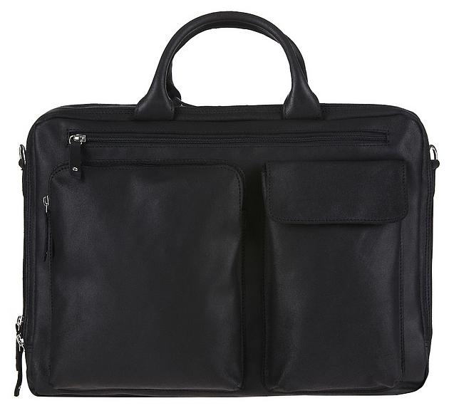 JOST Kožená business taška na notebook HUNTER 2577 černá
