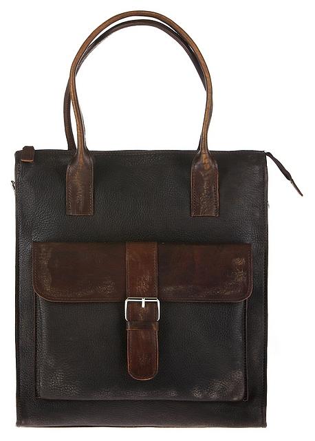 JOST Kožená taška BRONX 1013-001 černo-hnědá