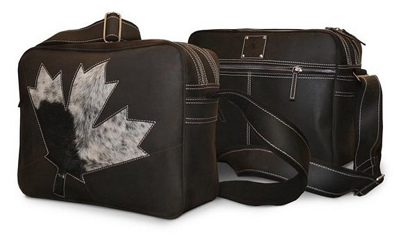 BULL&HUNT Kožená taška přes rameno CASUAL MAPLE LEAF - 24-0235 hnědá