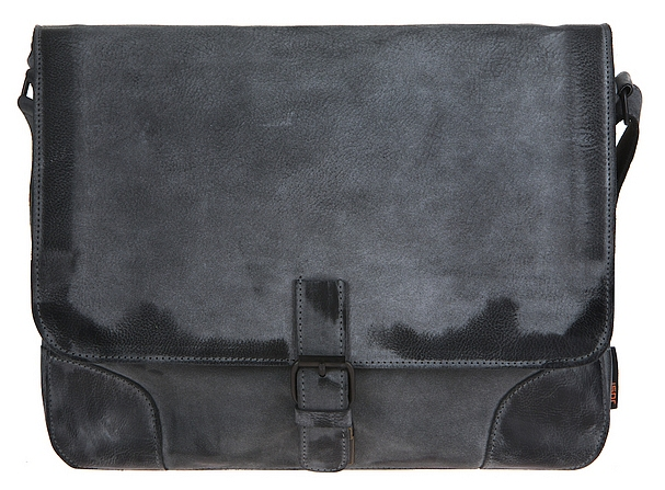 JOST Kožená taška přes rameno MONTANA L 1002 černá