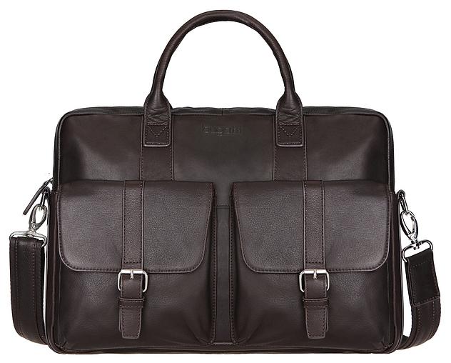 Bugatti Kožená taška na notebook Montreal 49520902 hnědá