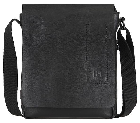 BODENSCHATZ Kožená crossbody taška 8-465 SE černá