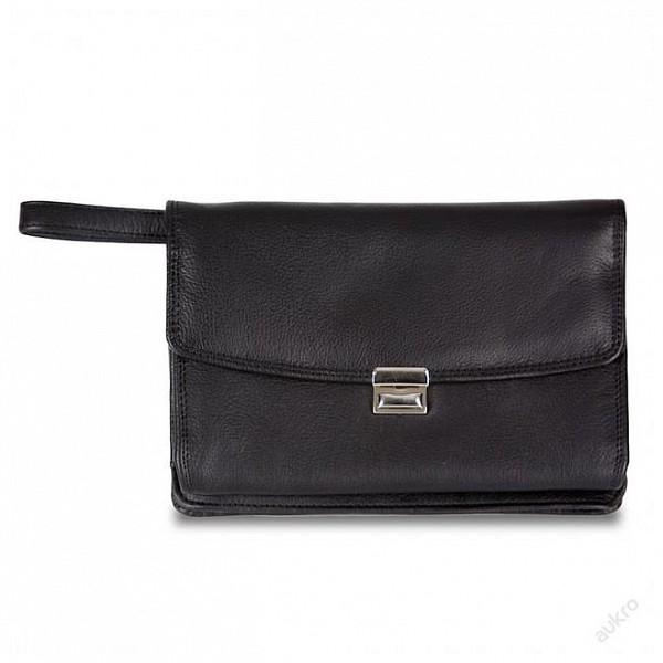 7508dc9b64 Hamosons Kožená taška na doklady - pánská kožená etue 1070 černá ...
