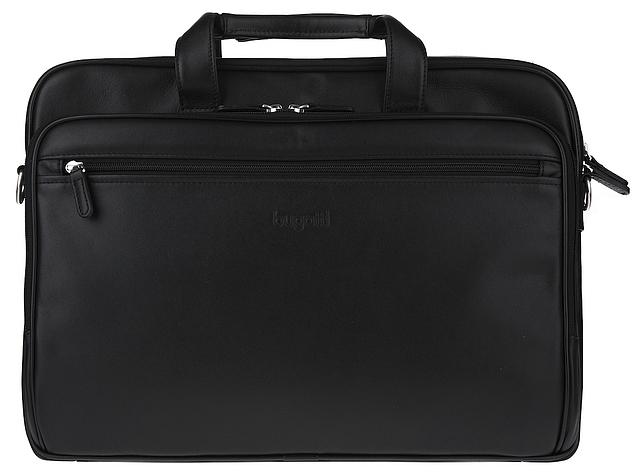 Bugatti Kožená business taška na notebook NEVADA 49549301 černá