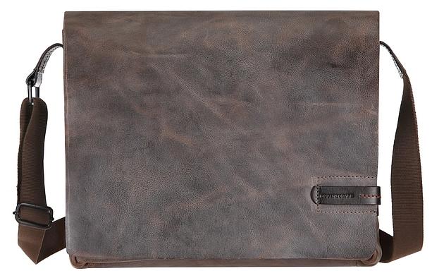 BODENSCHATZ Kožená taška přes rameno 8-241 PN šedo-hnědá