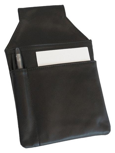 Hamosons Pouzdro na kasírku z hovězí kůže 009 černá