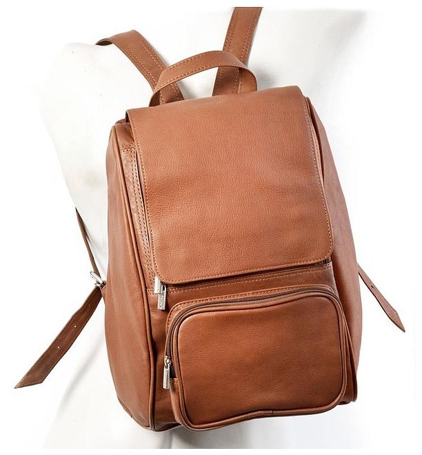 """Kožený batoh na notebook do 13"""" Jahn Tasche 710 koňak"""