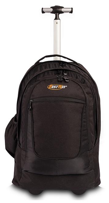 BestWay XL batoh na kolečkách s vysouvací rukojetí 40154-0100 černý