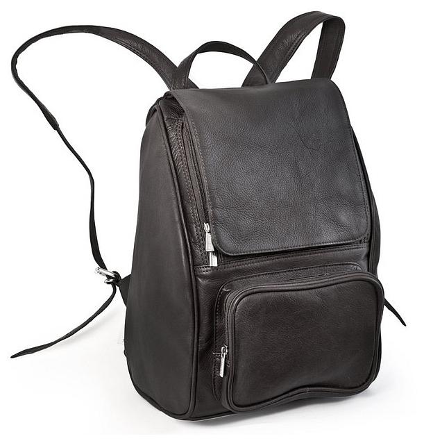 """Kožený batoh na notebook do 13"""" Jahn Tasche 710 černý"""
