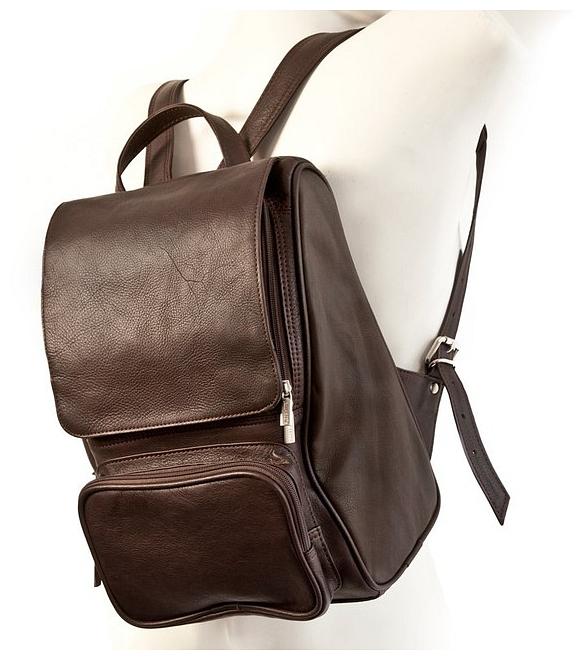 """Kožený batoh na notebook do 13"""" Jahn Tasche 710 hnědý"""