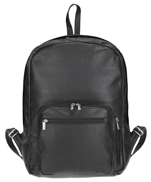 Hamosons Kožený batoh na notebook 514 černý