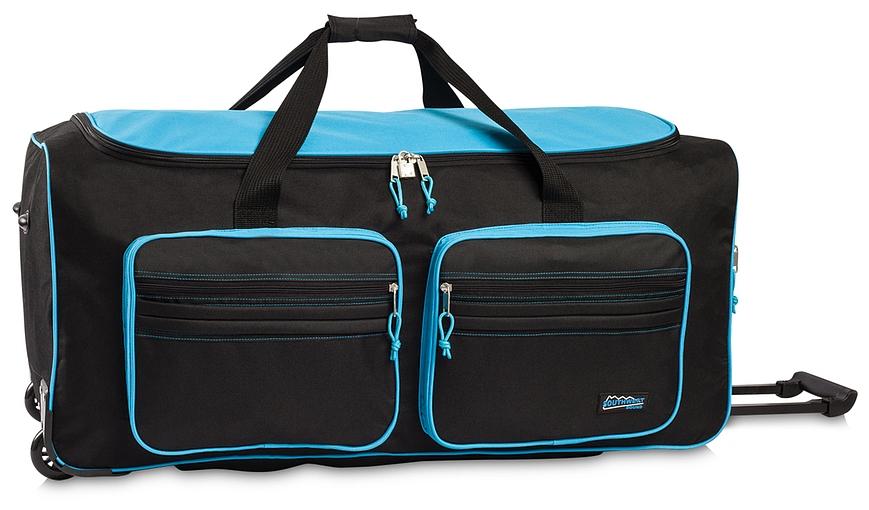 Southwest XXL cestovní taška na kolečkách 30059-0125 černo-tyrkysová