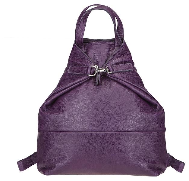 JOST Dámský kožený batoh VIKA 1910 fialový