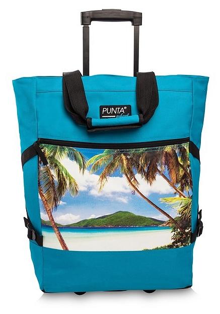 PUNTA wheel Nákupní taška na kolečkách 10008-2598 tyrkysová