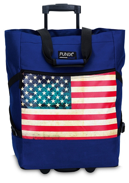 PUNTA wheel Nákupní taška na kolečkách 10008-0502 modro-červená