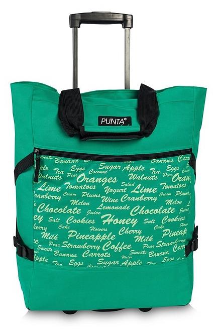 PUNTA wheel Nákupní taška na kolečkách 10008-0800 zelená