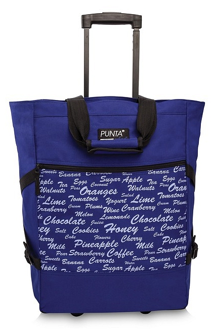 PUNTA wheel Nákupní taška na kolečkách 10008-1918 tmavě fialová
