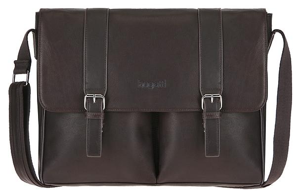 Bugatti Kožená taška na notebook Montreal 49520802 hnědá