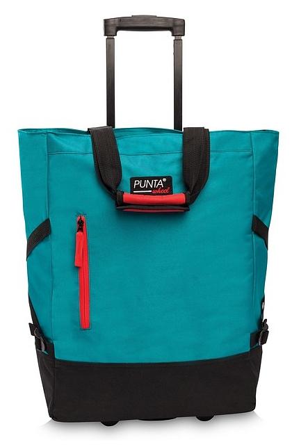 PUNTA wheel Nákupní taška na kolečkách 10183-2501 tyrkysová / černá