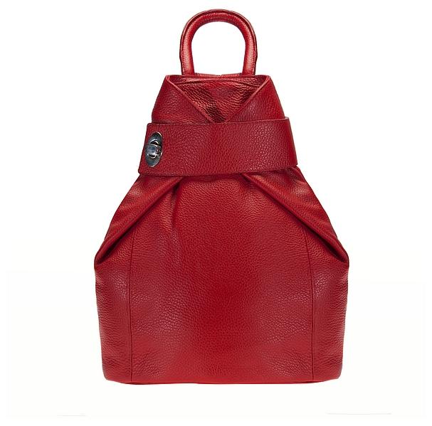 ESTELLE Dámský kožený batoh 0960 červený