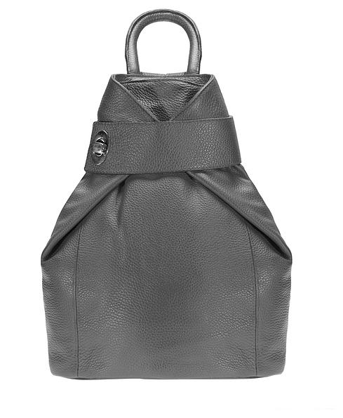 ESTELLE Dámský kožený batoh 0960 šedý