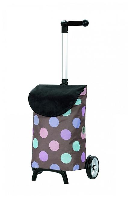 Andersen Nákupní taška na kolečkách UNUS SHOPPER® FUN ISY 121-038-40 hnědá