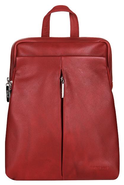 c2471a5a0bb ESTELLE Dámský kožený batoh do města 0143 červený