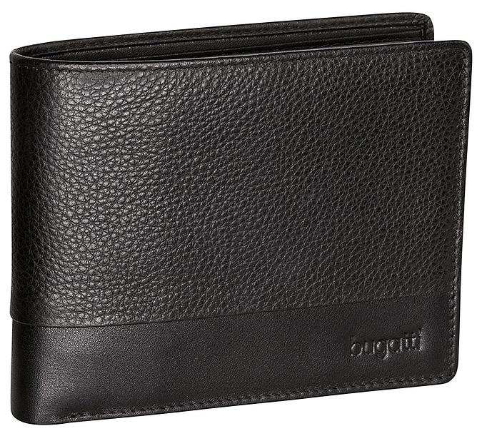 Bugatti Pánská kožená peněženka ATLANTA 49320101 černá