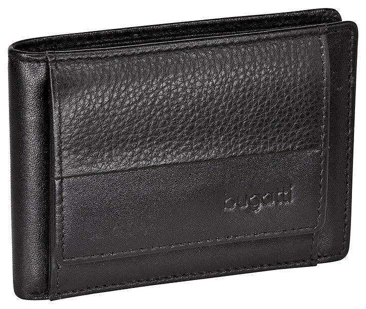 Bugatti Pánská kožená mini peněženka ATLANTA 49320601 černá