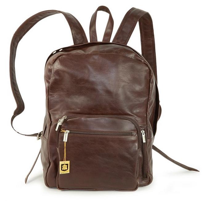 Hamosons Kožený batoh na notebook 514 hnědý