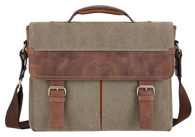 Bugatti Aktovka s přihrádkou na notebook CAPETOWN 49583788 khaki /koňak