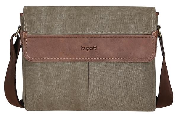 Bugatti Messenger taška vhodná na notebook CAPETOWN 49583888 khaki /koňak