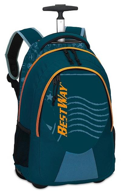 BestWay Školní batoh na kolečkách 40028-5000 modrý