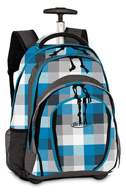 BestWay Školní batoh na kolečkách 40133-2804 modro-šedá