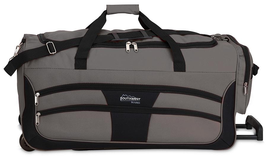 Southwest Cestovní taška na kolečkách 30089-1701 černo-šedá