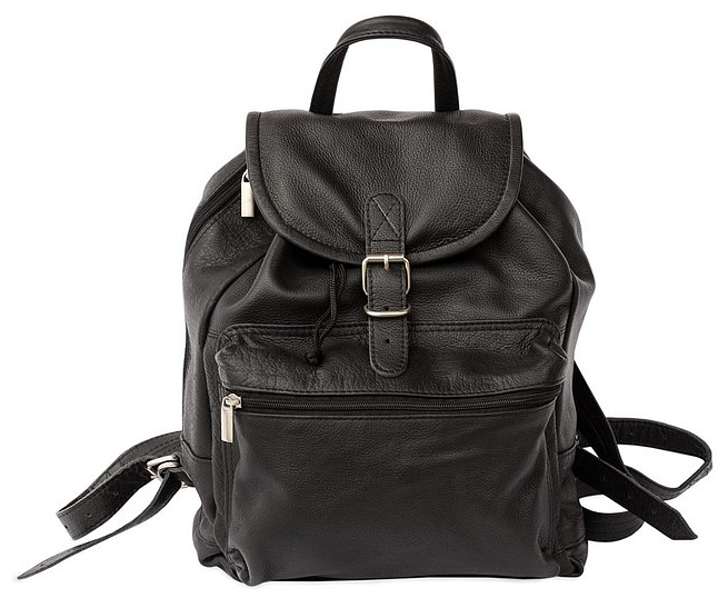 Hamosons Kožený batoh z hovězí kůže 512 černý
