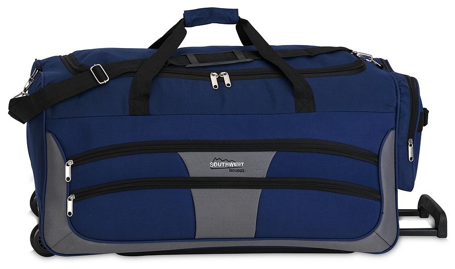Southwest Cestovní taška na kolečkách 30089-4917 modro-šedá